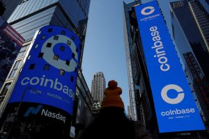 new Exchange Coinbase shares